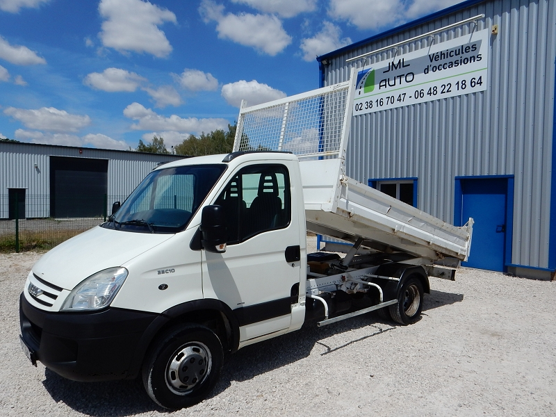 Iveco DAILY CCB 35C10 BENNE BASCULANTE Diesel BLANC Occasion à vendre